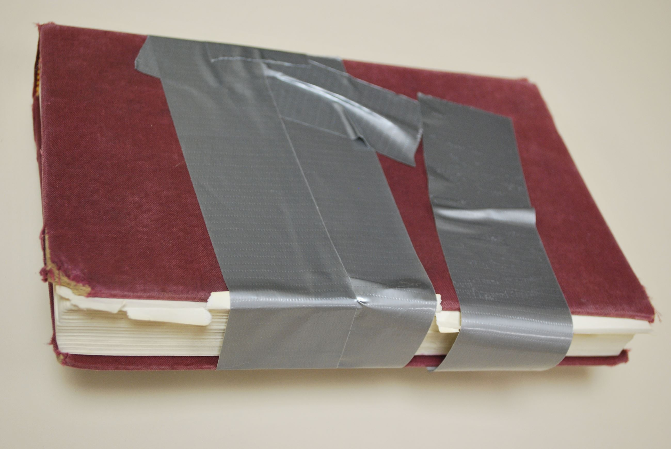 badly repaired book
