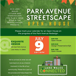 Park Ave streetscape open house