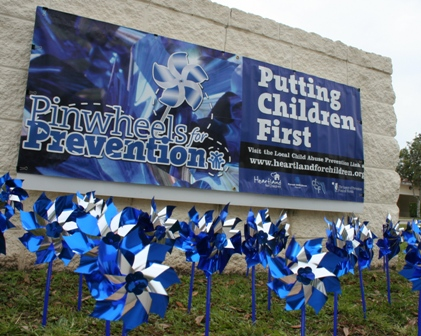 Police Department Pinwheels for Prevention